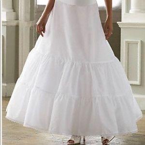 David's Bridal Two Tier Slip Wedding